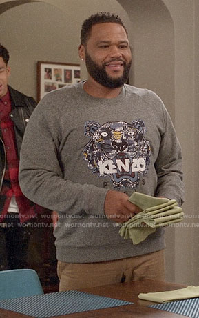 Andre's KENZO tiger sweatshirt on Black-ish