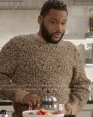 Andre's leopard print sweater on Black-ish