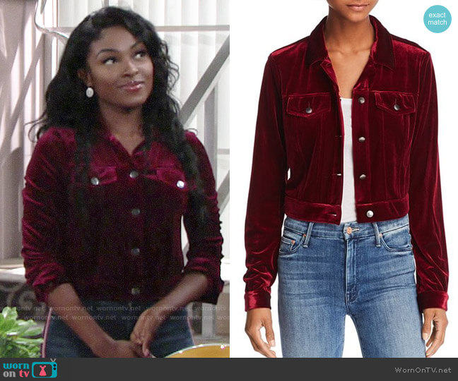 Aqua Velvet Jacket worn by Ana Hamilton (Loren Lott) on The Young & the Restless
