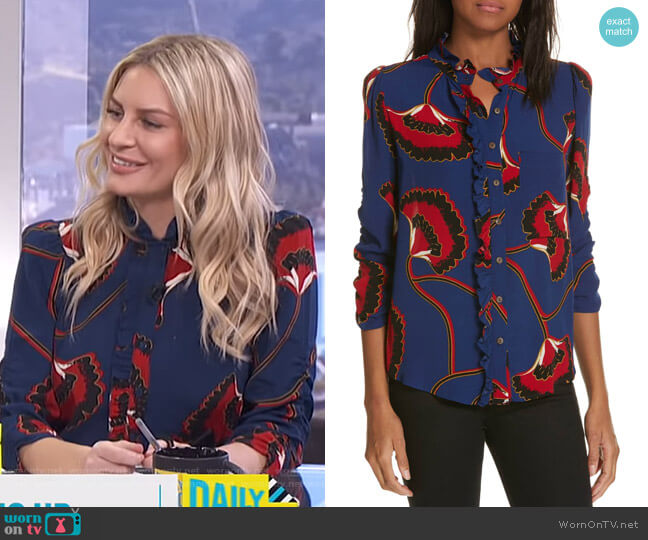 Laura Blouse by Ba&Sh worn by Morgan Stewart  on E! News