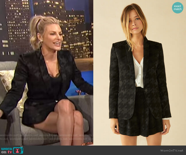 Nalia Jacket and Erell Shorts by Ba&Sh worn by Morgan Stewart  on E! News