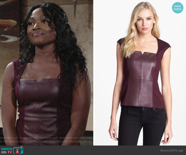 Bailey 44 Legacy of Terror Top worn by Ana Hamilton (Loren Lott) on The Young & the Restless