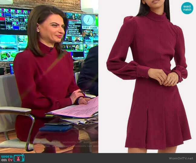 Balloon Sleeve Crepe Mini Dress by Proenza Schouler worn by Bianna Golodryga  on CBS This Morning