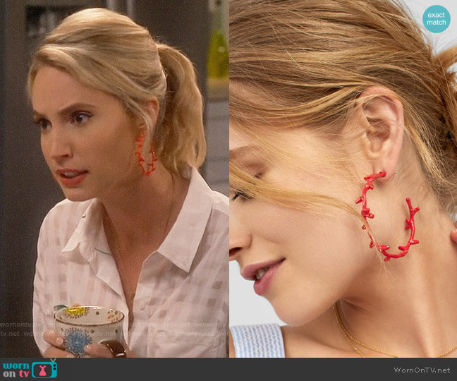 Baublebar Belize Hoops worn by Mandy Baxter (Molly McCook) on Last Man Standing