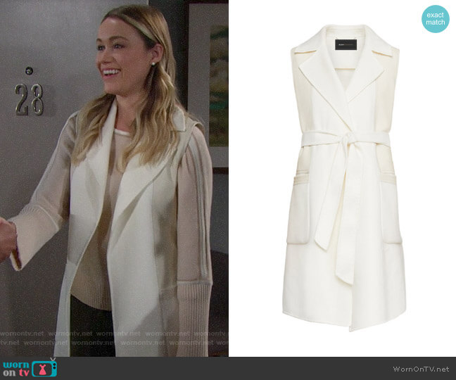 Bcbgmaxazria Camilla Long Wrap Vest worn by Flo Fulton (Katrina Bowden) on The Bold & the Beautiful