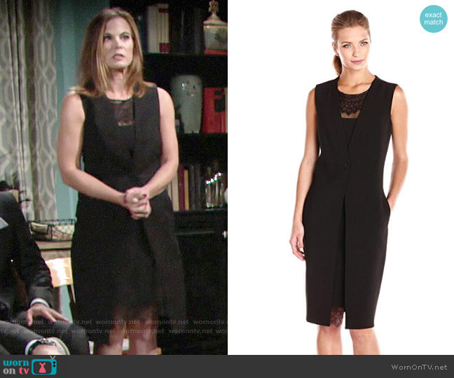 Bcbgmaxazria Foster Vest Dress worn by Phyllis Newman (Gina Tognoni) on The Young & the Restless