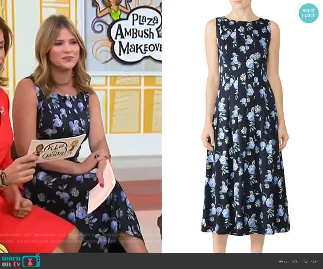 Flowy Pleat Dress by Becken worn by Jenna Bush Hager on Today