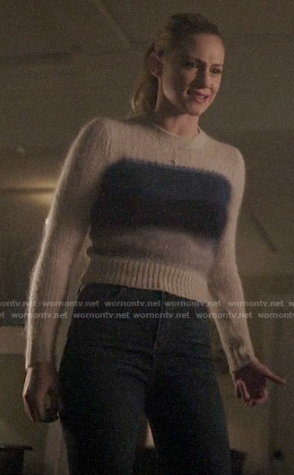 Betty's blue ombre striped sweater on Riverdale