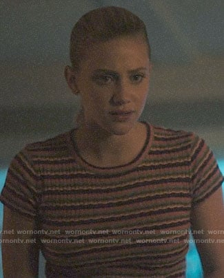 Betty's wavy striped tee on Riverdale