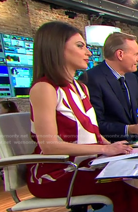 Bianna's white and red graphic print top on CBS This Morning