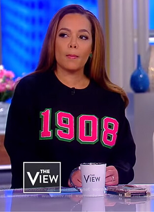 Sunny's black 1908 sweatshirt on The View