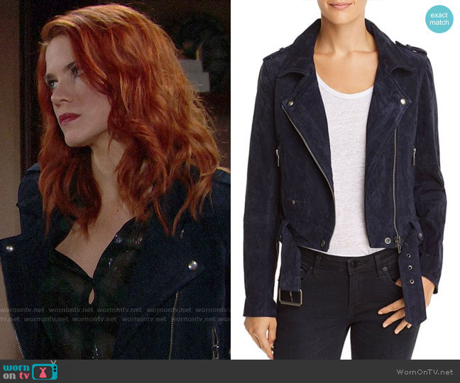 BlankNYC Suede Moto Jacket worn by Sally Spectra (Courtney Hope) on The Bold & the Beautiful