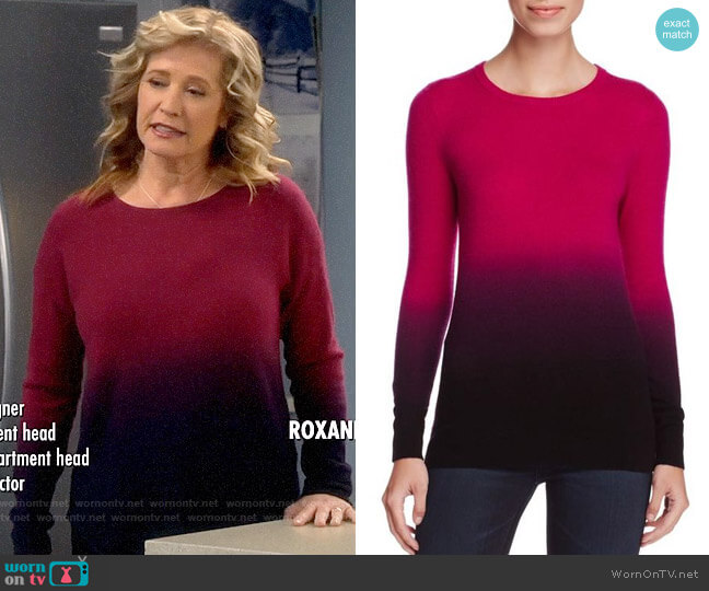 C by Bloomingdales Cashmere Crewneck Ombre Sweater worn by Vanessa Baxter (Nancy Travis) on Last Man Standing