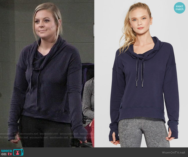 C9 Champion Cozy Pullover worn by Maxie Jones (Kirsten Storms) on General Hospital