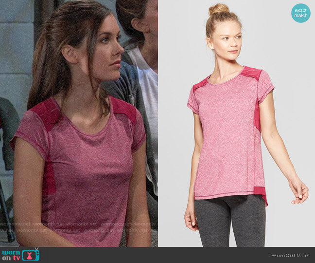 C9 Champion Short Sleeve Run T-Shirt worn by Willow Tait (Katelyn MacMullen) on General Hospital