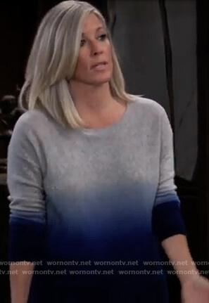 Carly's blue ombre sweater on General Hospital