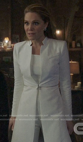 Charity's white zip-waist coat on Charmed