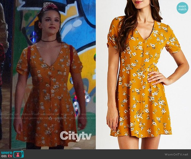 Charlotte Russe Floral Button Up Dress worn by Amy Santiago (Melissa Fumero) on Brooklyn Nine-Nine