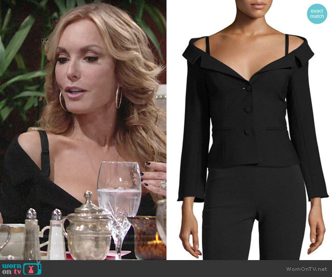 Cinq a Sept Angelina Blazer worn by Lauren Fenmore (Tracey Bregman) on The Young & the Restless