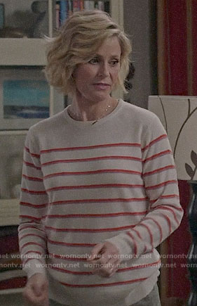 Claire's red striped sweater on Modern Family