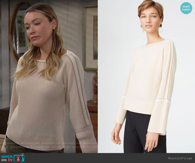 Club Monaco Venys Cashmere Sweater worn by Flo Fulton (Katrina Bowden) on The Bold & the Beautiful