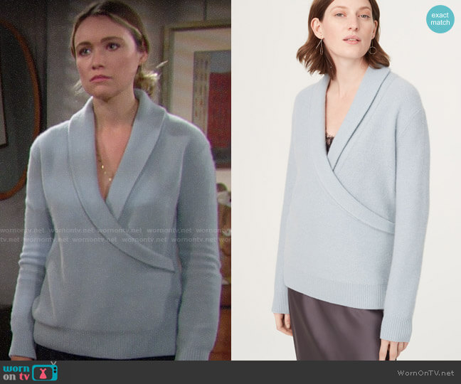 Club Monaco Maureesha Sweater worn by Florence (Katrina Bowden) on The Bold & the Beautiful
