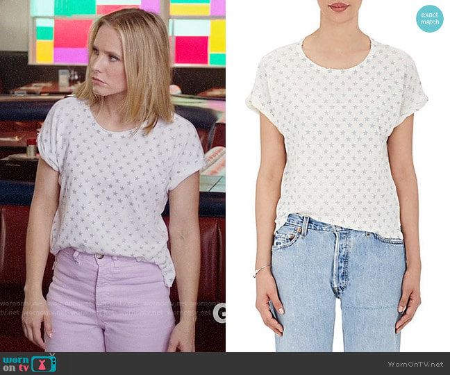 Current/Elliott The Rolled Crew worn by Eleanor Shellstrop (Kristen Bell) on The Good Place