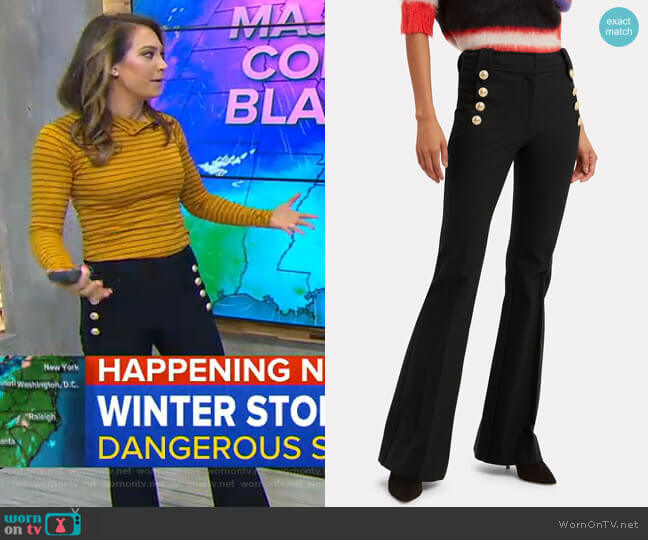 Robertson Trousers by Derek Lam 10 Crosby worn by Ginger Zee  on Good Morning America