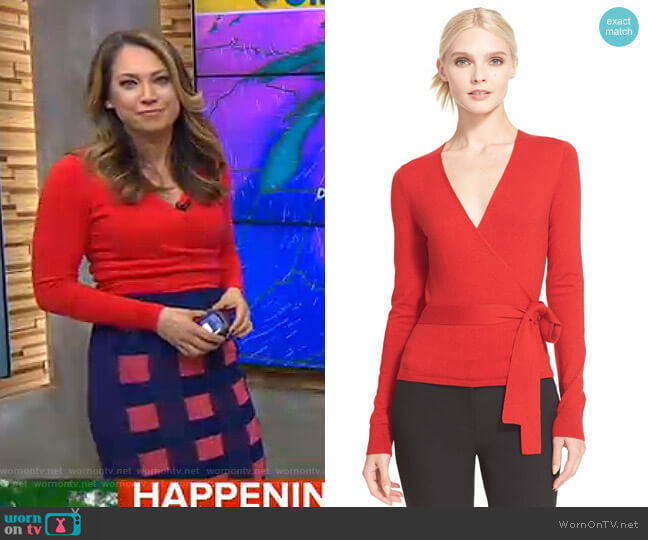 Ballerina Sweater by Diane von Furstenberg worn by Ginger Zee  on Good Morning America