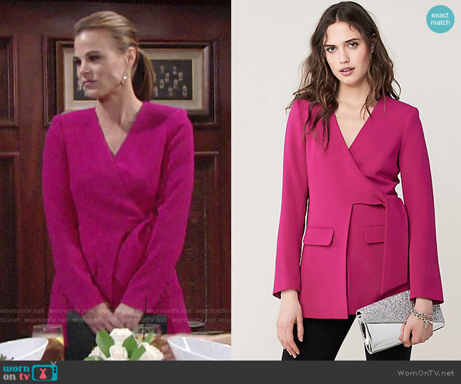 Diane von Furstenberg Cali Front Tie Jacket worn by Phyllis Newman (Gina Tognoni) on The Young & the Restless