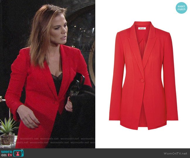Diane von Furstenberg Long One-Button Blazer worn by Phyllis Newman (Gina Tognoni) on The Young & the Restless