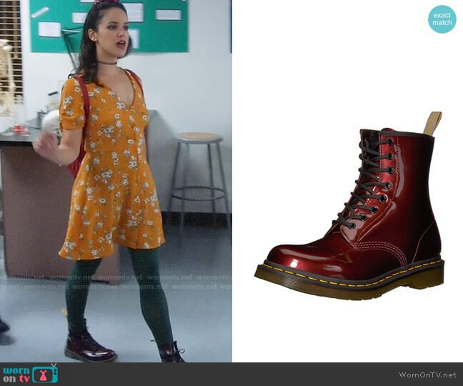 Dr. Martens Vegan Chrome Chukka Boot worn by Amy Santiago (Melissa Fumero) on Brooklyn Nine-Nine