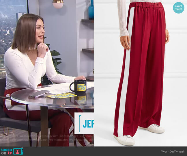 Kelly Pants by Elizabeth and James worn by Carissa Loethen Culiner (Carissa Loethen Culiner) on E! News