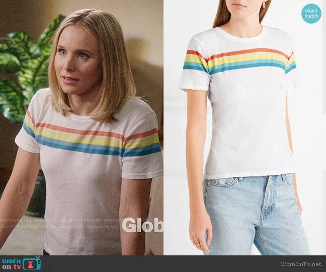 Elizabeth & James Lakota Rainbow Tee worn by Eleanor Shellstrop (Kristen Bell) on The Good Place