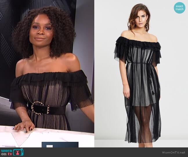 Ruby Dress by Elliatt worn by Zuri Hall  on E! News
