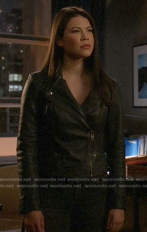 Emiko's leather jacket on Arrow