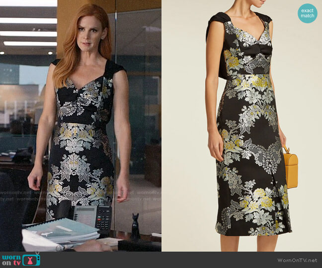 Erdem Gretchen Dress worn by Donna Paulsen (Sarah Rafferty) on Suits