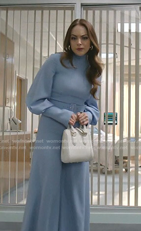 Fallon's blue jumpsuit on Dynasty