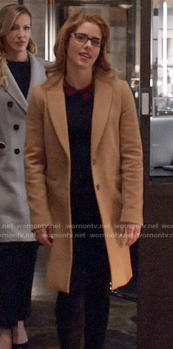 Felicity's camel coat on Arrow