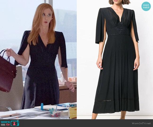 Fendi Cape Style Sleeves Dress worn by Donna Paulsen (Sarah Rafferty) on Suits