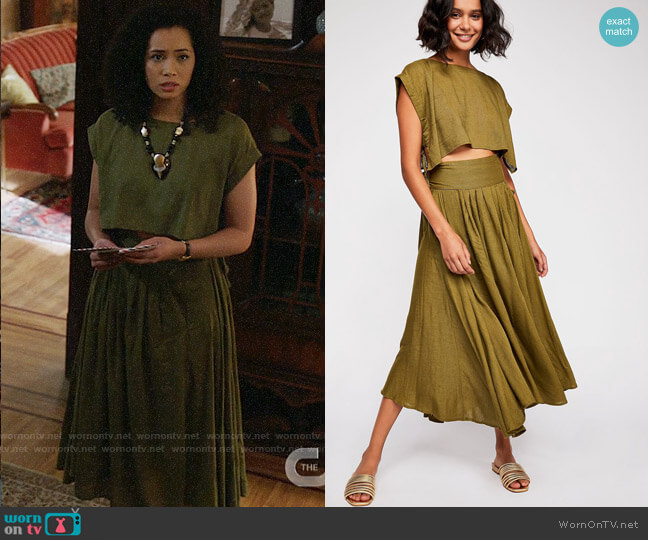 Free People Sundown Skirt Set worn by Macy Vaughn (Madeleine Mantock) on Charmed