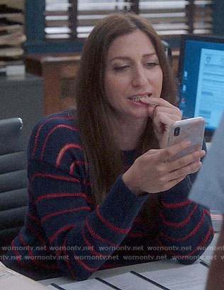 Gina's navy and red striped sweater on Brooklyn Nine-Nine