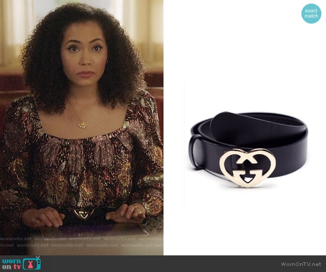 Gucci GG Heart Belt worn by Macy Vaughn (Madeleine Mantock) on Charmed