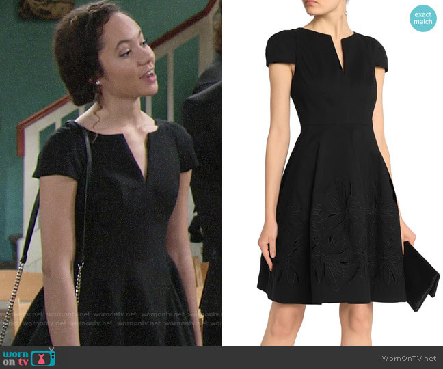 Halston Heritage Cotton and Silk-blend Dress worn by Lexie Stevenson on The Young & the Restless