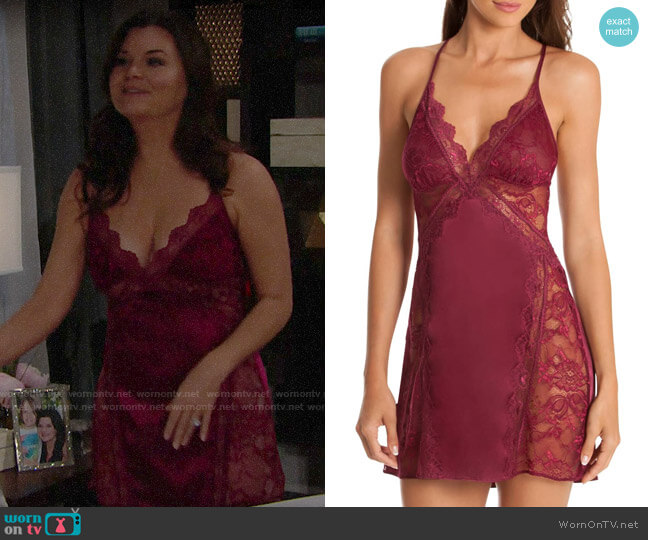 In Bloom by Jonquil Lace Glisten Chemise worn by Katie Logan (Heather Tom) on The Bold & the Beautiful