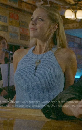 Isobel's blue sweater tank on Roswell New Mexico
