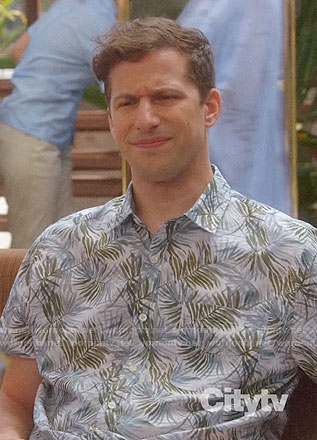 Jake's leaf print shirt on Brooklyn Nine-Nine