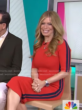 Jill's red side striped dress on Today