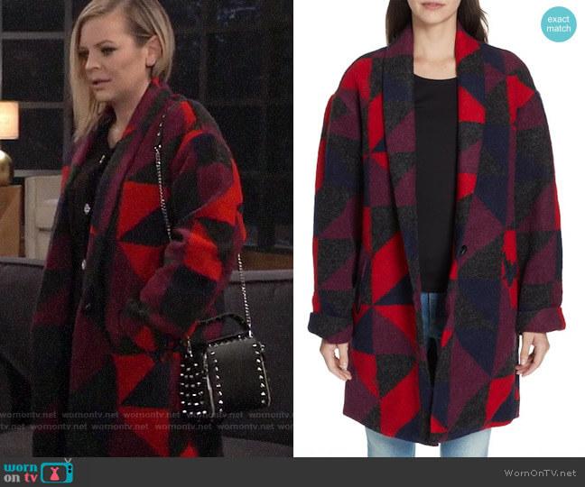 Joie Halona Blanket Coat worn by Kirsten Storms on General Hospital