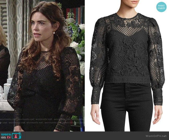 Joie Rodia Top worn by Amelia Heinle on The Young & the Restless